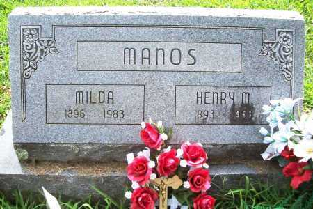MANOS, MILDA - Benton County, Arkansas | MILDA MANOS - Arkansas Gravestone Photos