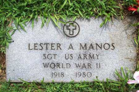 MANOS (VETERAN WWII), LESTER A. - Benton County, Arkansas | LESTER A. MANOS (VETERAN WWII) - Arkansas Gravestone Photos