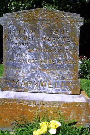 MARKWELL, JANE - Benton County, Arkansas | JANE MARKWELL - Arkansas Gravestone Photos