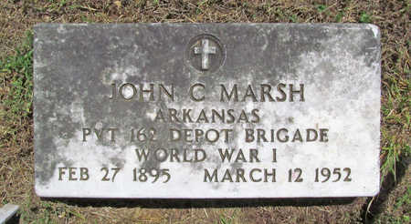 MARSH (VETERAN WWI), JOHN CHARLES - Benton County, Arkansas | JOHN CHARLES MARSH (VETERAN WWI) - Arkansas Gravestone Photos