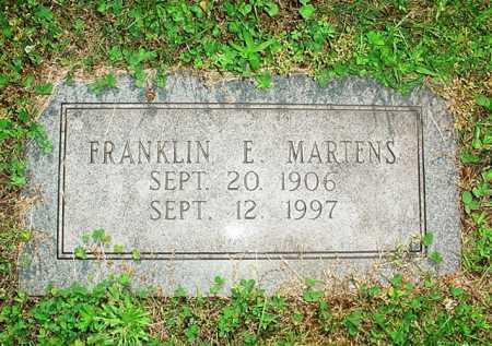 MARTENS, FRANKLIN E. - Benton County, Arkansas | FRANKLIN E. MARTENS - Arkansas Gravestone Photos