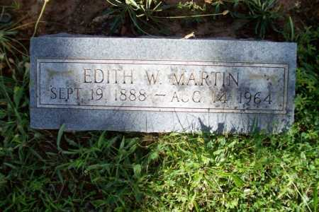 MARTIN, EDITH W. - Benton County, Arkansas | EDITH W. MARTIN - Arkansas Gravestone Photos