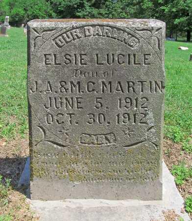 MARTIN, ELSIE LUCILE - Benton County, Arkansas | ELSIE LUCILE MARTIN - Arkansas Gravestone Photos