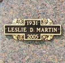 MARTIN, LESLIE D. - Benton County, Arkansas | LESLIE D. MARTIN - Arkansas Gravestone Photos