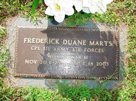MARTS (VETERAN WWII), FREDERICK DUANE - Benton County, Arkansas | FREDERICK DUANE MARTS (VETERAN WWII) - Arkansas Gravestone Photos