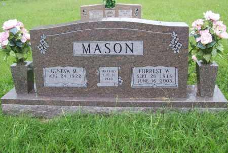 MASON, FORREST W. - Benton County, Arkansas | FORREST W. MASON - Arkansas Gravestone Photos