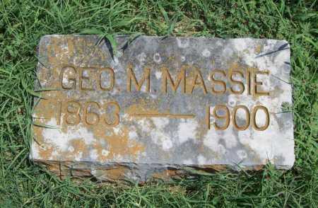 MASSIE, GEORGE M - Benton County, Arkansas | GEORGE M MASSIE - Arkansas Gravestone Photos