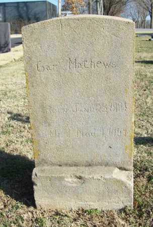 MATHEWS, GAR - Benton County, Arkansas | GAR MATHEWS - Arkansas Gravestone Photos