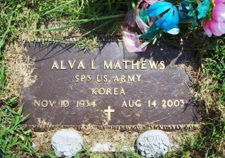 MATHEWS (VETERAN KOR), ALVA L. - Benton County, Arkansas | ALVA L. MATHEWS (VETERAN KOR) - Arkansas Gravestone Photos