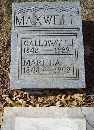 MAXWELL (VETERAN CSA), CALLOWAY LEANDER - Benton County, Arkansas | CALLOWAY LEANDER MAXWELL (VETERAN CSA) - Arkansas Gravestone Photos
