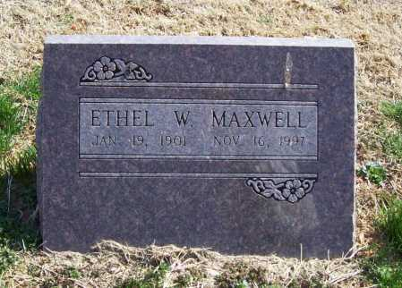 MAXWELL, ETHEL W. - Benton County, Arkansas | ETHEL W. MAXWELL - Arkansas Gravestone Photos