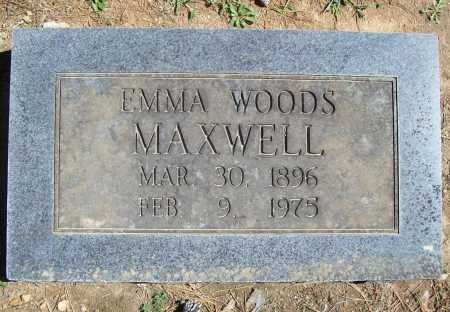 WOODS MAXWELL, EMMA S. - Benton County, Arkansas | EMMA S. WOODS MAXWELL - Arkansas Gravestone Photos