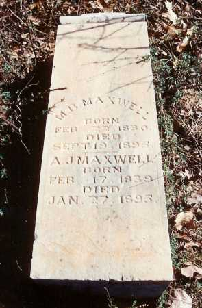 MAXWELL, M. B. - Benton County, Arkansas | M. B. MAXWELL - Arkansas Gravestone Photos