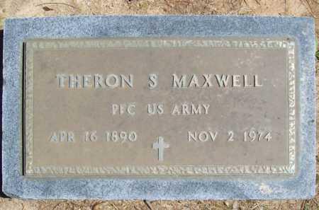 MAXWELL (VETERAN), THERON S. - Benton County, Arkansas | THERON S. MAXWELL (VETERAN) - Arkansas Gravestone Photos