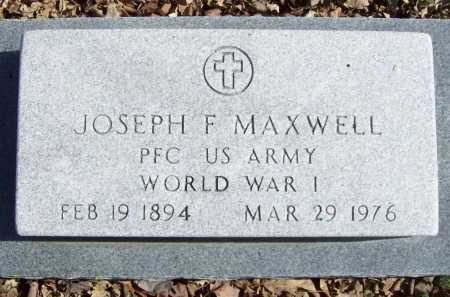 "MAXWELL (VETERAN WWI), JOSEPH FRANKLIN ""MAC"" - Benton County, Arkansas 