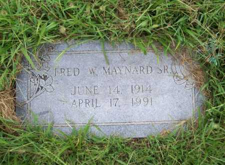 MAYNARD, FRED W. SR. - Benton County, Arkansas | FRED W. SR. MAYNARD - Arkansas Gravestone Photos