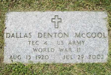 MCCOOL (VETERAN WWII), DALLAS DENTON - Benton County, Arkansas | DALLAS DENTON MCCOOL (VETERAN WWII) - Arkansas Gravestone Photos
