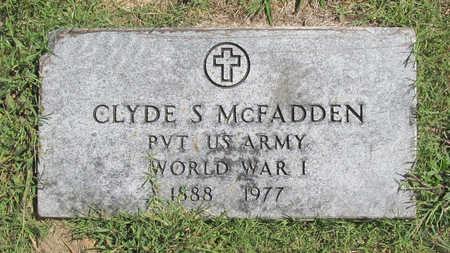 MCFADDEN (VETERAN WWI), CLYDE S - Benton County, Arkansas | CLYDE S MCFADDEN (VETERAN WWI) - Arkansas Gravestone Photos