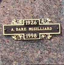 MCGILLIARD, A. DARE - Benton County, Arkansas | A. DARE MCGILLIARD - Arkansas Gravestone Photos