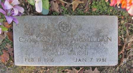 MCMILLAN (VETERAN WWII), CARMON L. R. - Benton County, Arkansas | CARMON L. R. MCMILLAN (VETERAN WWII) - Arkansas Gravestone Photos