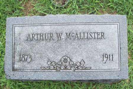 MCALLISTER, ARTHUR W. - Benton County, Arkansas | ARTHUR W. MCALLISTER - Arkansas Gravestone Photos