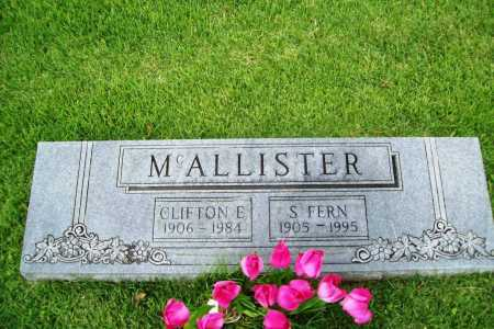 MCALLISTER, CLIFTON E. - Benton County, Arkansas | CLIFTON E. MCALLISTER - Arkansas Gravestone Photos