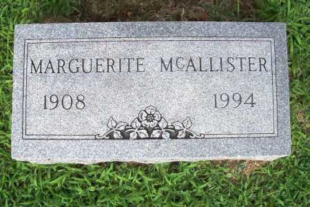 MCALLISTER, MARGUERITE - Benton County, Arkansas | MARGUERITE MCALLISTER - Arkansas Gravestone Photos