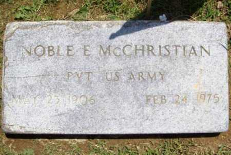 MCCHRISTIAN (VETERAN), NOBLE EDWARD - Benton County, Arkansas | NOBLE EDWARD MCCHRISTIAN (VETERAN) - Arkansas Gravestone Photos