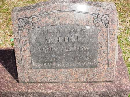 MCCOOL, MARION WILLIAM - Benton County, Arkansas | MARION WILLIAM MCCOOL - Arkansas Gravestone Photos