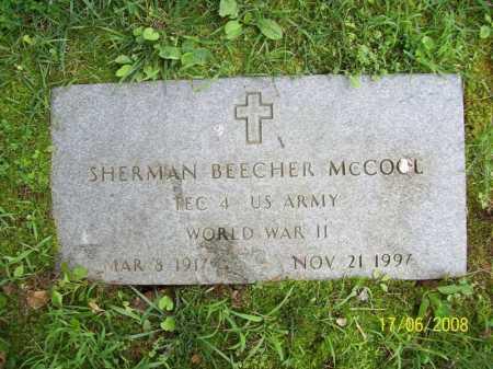 MCCOOL (VETERAN WWII), SHERMAN BEECHER - Benton County, Arkansas   SHERMAN BEECHER MCCOOL (VETERAN WWII) - Arkansas Gravestone Photos