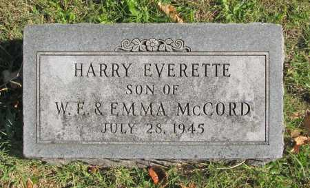 MCCORD, HARRY EVERETTE - Benton County, Arkansas | HARRY EVERETTE MCCORD - Arkansas Gravestone Photos