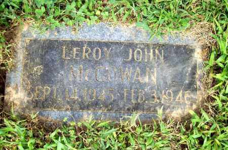 MCGOWAN, LEROY JOHN - Benton County, Arkansas | LEROY JOHN MCGOWAN - Arkansas Gravestone Photos