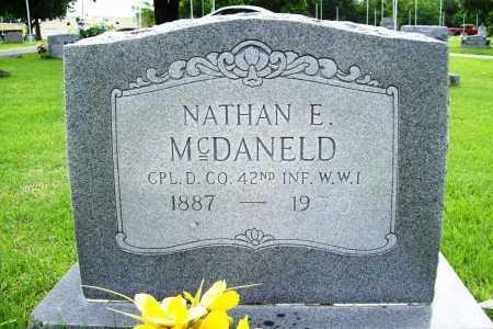 MCDANELD (VETERAN WWI), NATHAN E. - Benton County, Arkansas | NATHAN E. MCDANELD (VETERAN WWI) - Arkansas Gravestone Photos