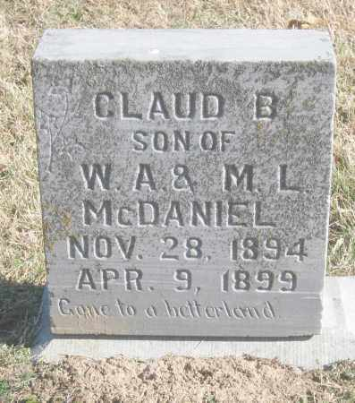 MCDANIEL, CLAUD B. - Benton County, Arkansas | CLAUD B. MCDANIEL - Arkansas Gravestone Photos