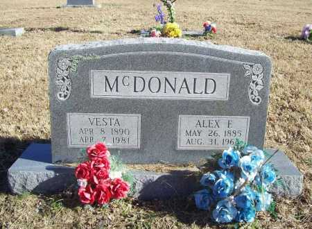 MCDONALD, VESTA - Benton County, Arkansas | VESTA MCDONALD - Arkansas Gravestone Photos