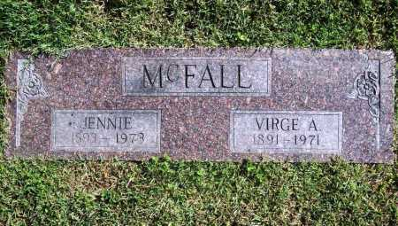 MCFALL, JENNIE - Benton County, Arkansas | JENNIE MCFALL - Arkansas Gravestone Photos