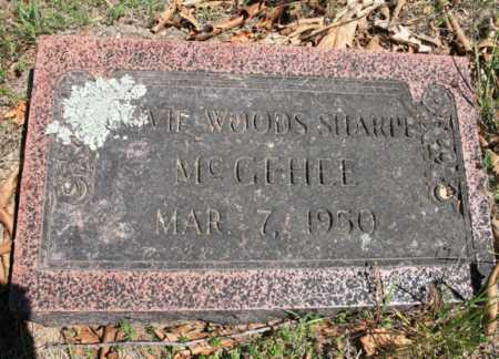 WOODS MCGEHEE, DOVIE - Benton County, Arkansas | DOVIE WOODS MCGEHEE - Arkansas Gravestone Photos