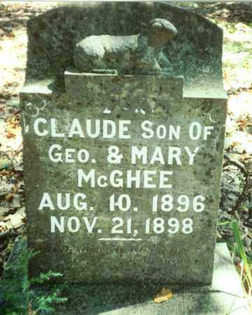 MCGHEE, CLAUDE - Benton County, Arkansas | CLAUDE MCGHEE - Arkansas Gravestone Photos