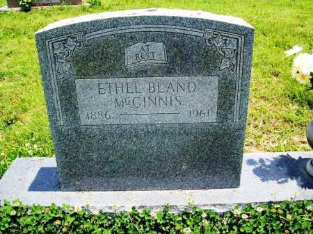 BLAND MCGINNIS, ETHEL - Benton County, Arkansas | ETHEL BLAND MCGINNIS - Arkansas Gravestone Photos