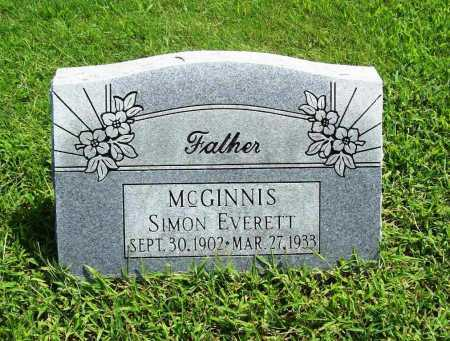 MCGINNIS, SIMON EVERETT - Benton County, Arkansas | SIMON EVERETT MCGINNIS - Arkansas Gravestone Photos
