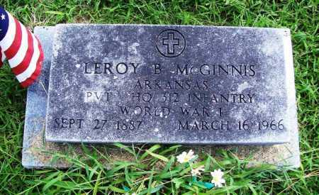 MCGINNIS (VETERAN WWI), LEROY B. - Benton County, Arkansas | LEROY B. MCGINNIS (VETERAN WWI) - Arkansas Gravestone Photos