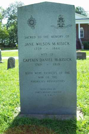 WILSON MCKISICK, JANE - Benton County, Arkansas | JANE WILSON MCKISICK - Arkansas Gravestone Photos