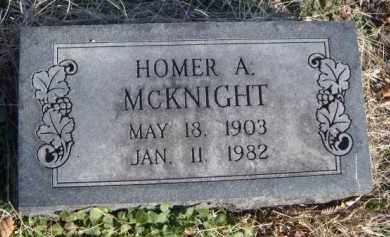 MCKNIGHT, HOMER A. - Benton County, Arkansas | HOMER A. MCKNIGHT - Arkansas Gravestone Photos