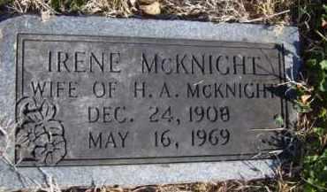 MCKNIGHT, IRENE - Benton County, Arkansas | IRENE MCKNIGHT - Arkansas Gravestone Photos