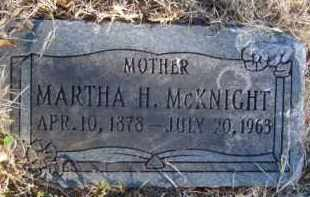 MCKNIGHT, MARTHA H. - Benton County, Arkansas | MARTHA H. MCKNIGHT - Arkansas Gravestone Photos