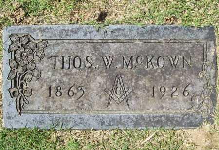 MCKOWN, THOMAS W. - Benton County, Arkansas | THOMAS W. MCKOWN - Arkansas Gravestone Photos
