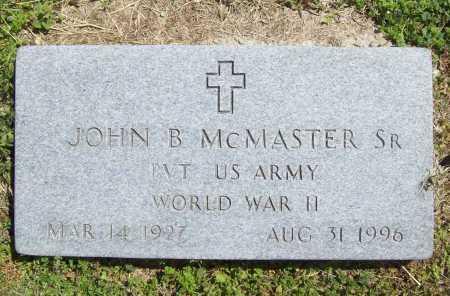 MCMASTER (VETERAN WWII), JOHN B. - Benton County, Arkansas | JOHN B. MCMASTER (VETERAN WWII) - Arkansas Gravestone Photos