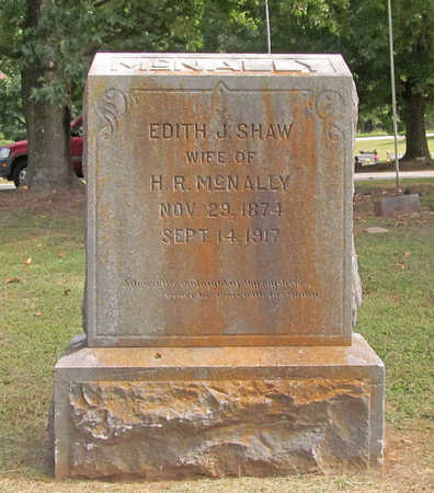 SHAW MCNALLY, EDITH J. - Benton County, Arkansas | EDITH J. SHAW MCNALLY - Arkansas Gravestone Photos