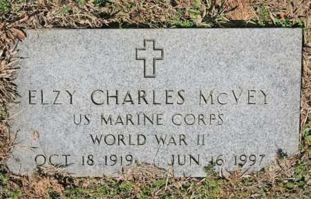 MCVEY (VETERAN WWII), ELZY CHARLES - Benton County, Arkansas | ELZY CHARLES MCVEY (VETERAN WWII) - Arkansas Gravestone Photos