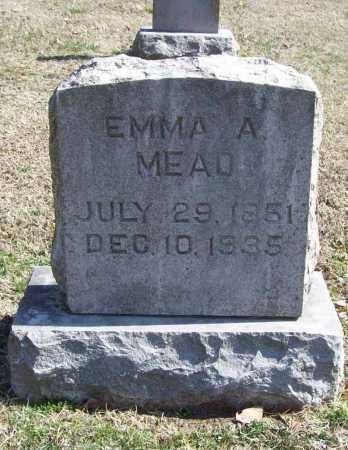 MEAD, EMMA A. - Benton County, Arkansas | EMMA A. MEAD - Arkansas Gravestone Photos